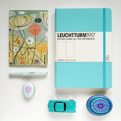 Leuchtturm Journal, Angie Lewon Notebook, Kaweco fountain pen