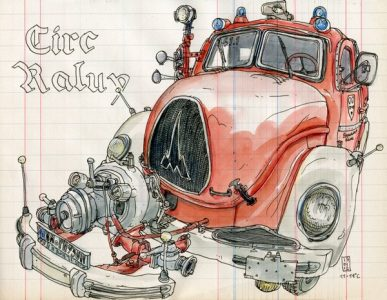 50s Fire Truck - Lapin