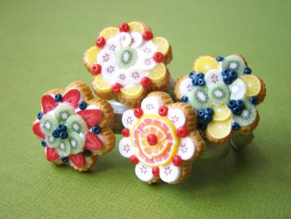 Stéphanie Kilgast - Miniature Food - Summer Fruit Tarts Rings