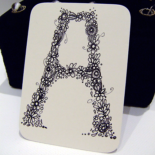 Letter A Aceo
