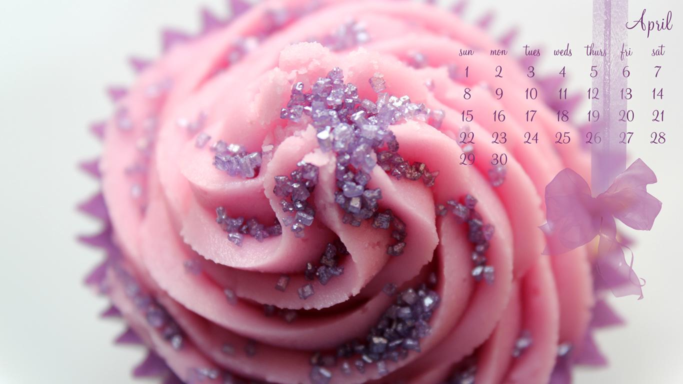 April Cupcake 1366 x 768