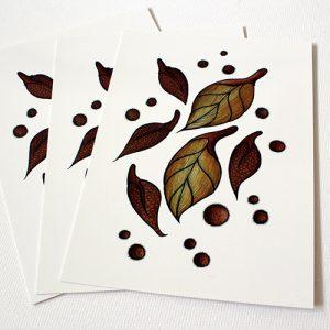 Autumn Leaves - Art Postcard