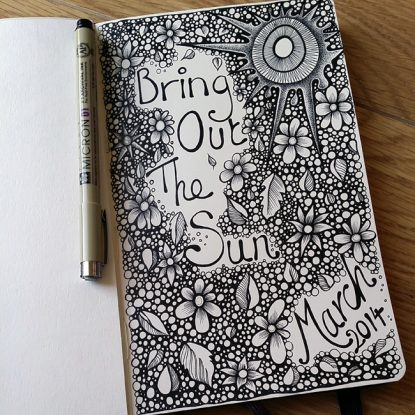 Bring out the sun - Moleskine doodle - March 2014