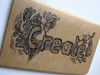'Create' -Large squared Cahier