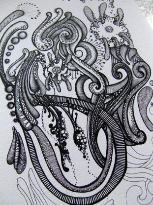 Ink Drawing progress
