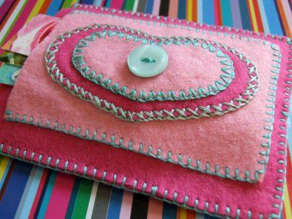 My little pink card holder
