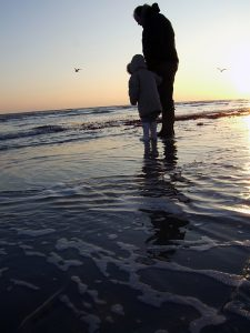 Daddy and his girl - Climping Beach 2008