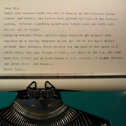 Dear Blog