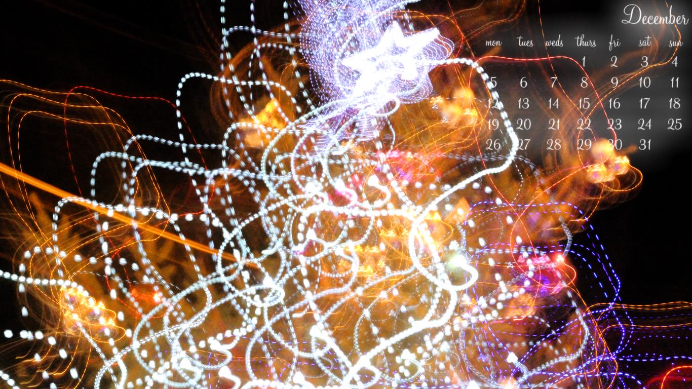 December Lights - 1366 x 768