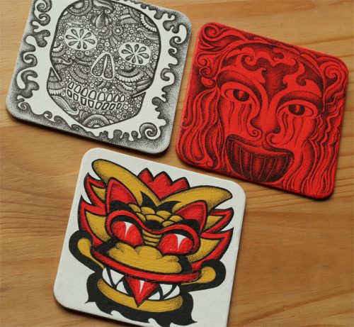 Entries for the Inkygoodness Beermat Character Competition