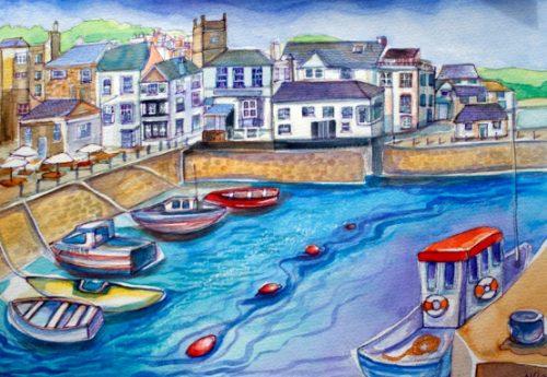 Falmouth in Cornwall by Melanie Chadwick