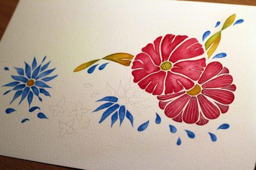 Flowers - Step 3