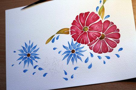 Flowers - Step 4