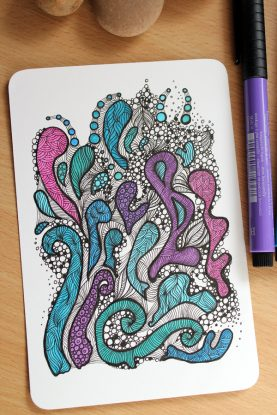 New drawing on postcard stock