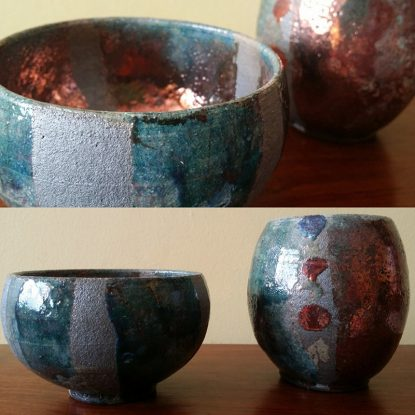 Orla's Party: Our Raku bowls