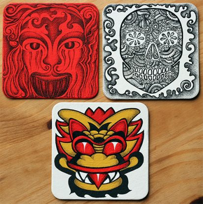 Inkgoodness Beermat Character Competition entries
