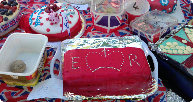 Jubilee Fair Cakes (the big red one is ours)