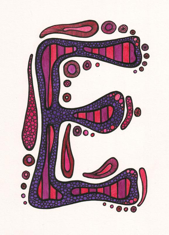 Letter E Art