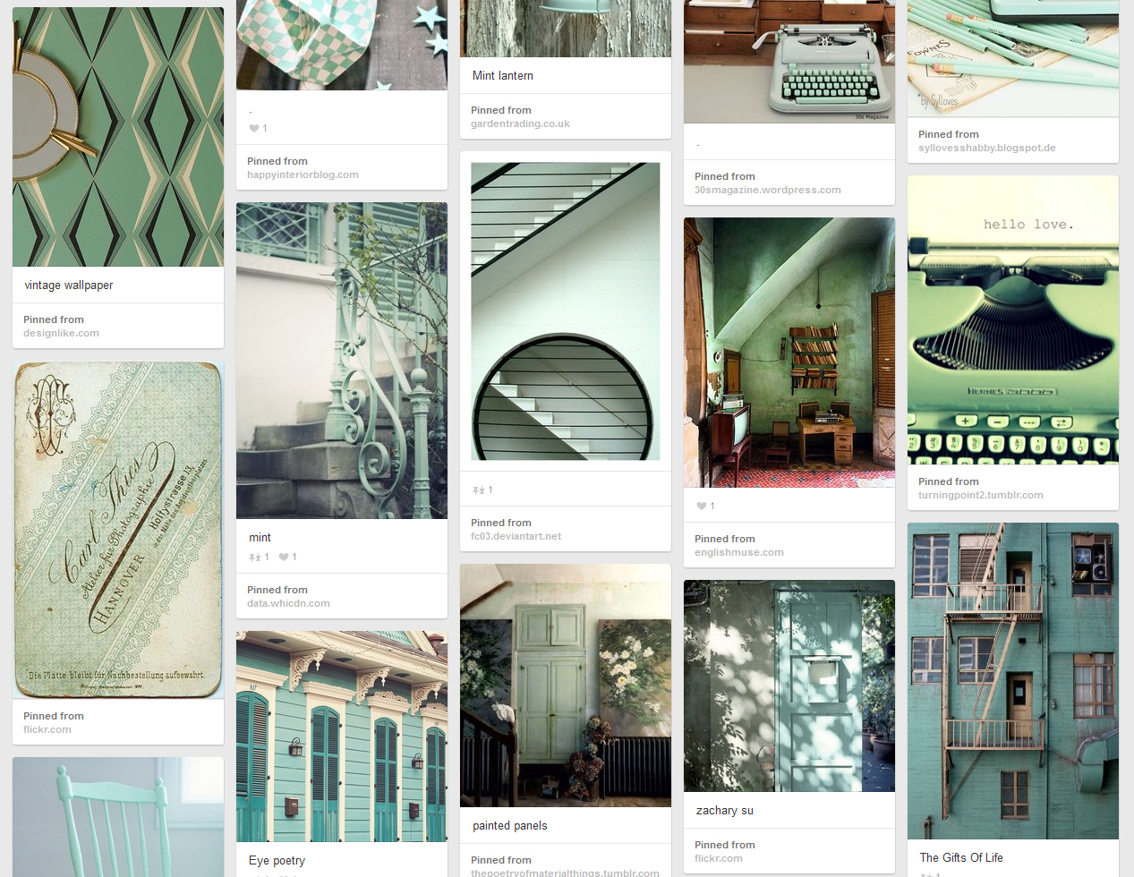 Mint board on Pinterest