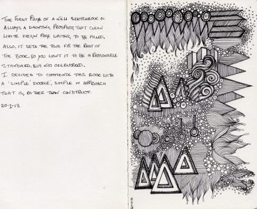 Moleskine pages 1-2