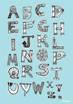 Nautical Lettering by Melanie Chadwick