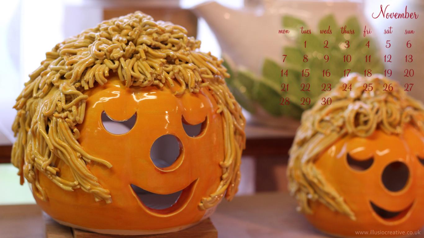 November- Halloween - 1366 x 768