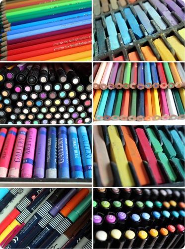 Pens, Pencils, Crayons