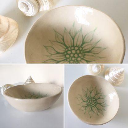 Mint Flower Dish