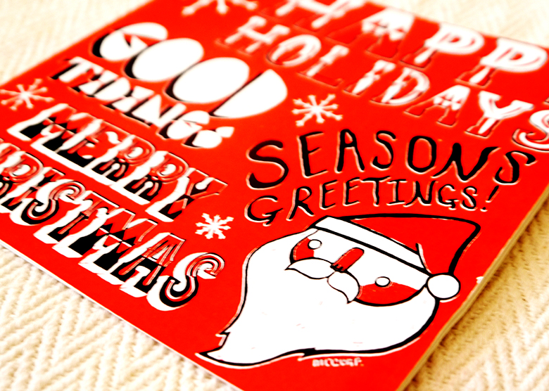 Print Santa Card - Paul McQuay