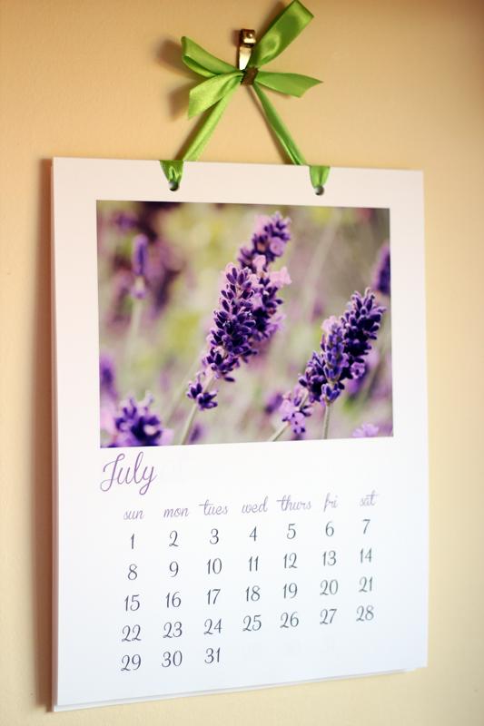 2012 Wall Calendar (July)