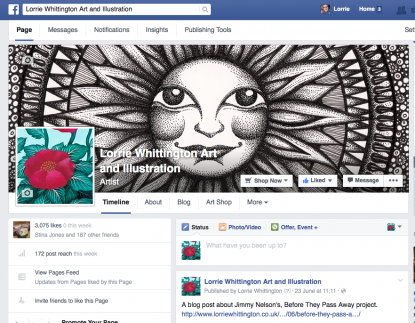 Screenshot of Lorrie Whittington's Faceook page