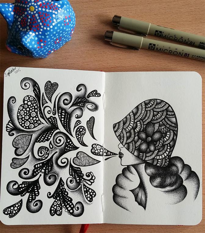 Moleskine doodle - September 14th