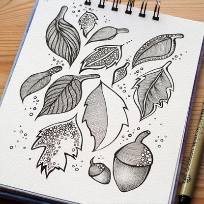 Leaves - Sketchbook August