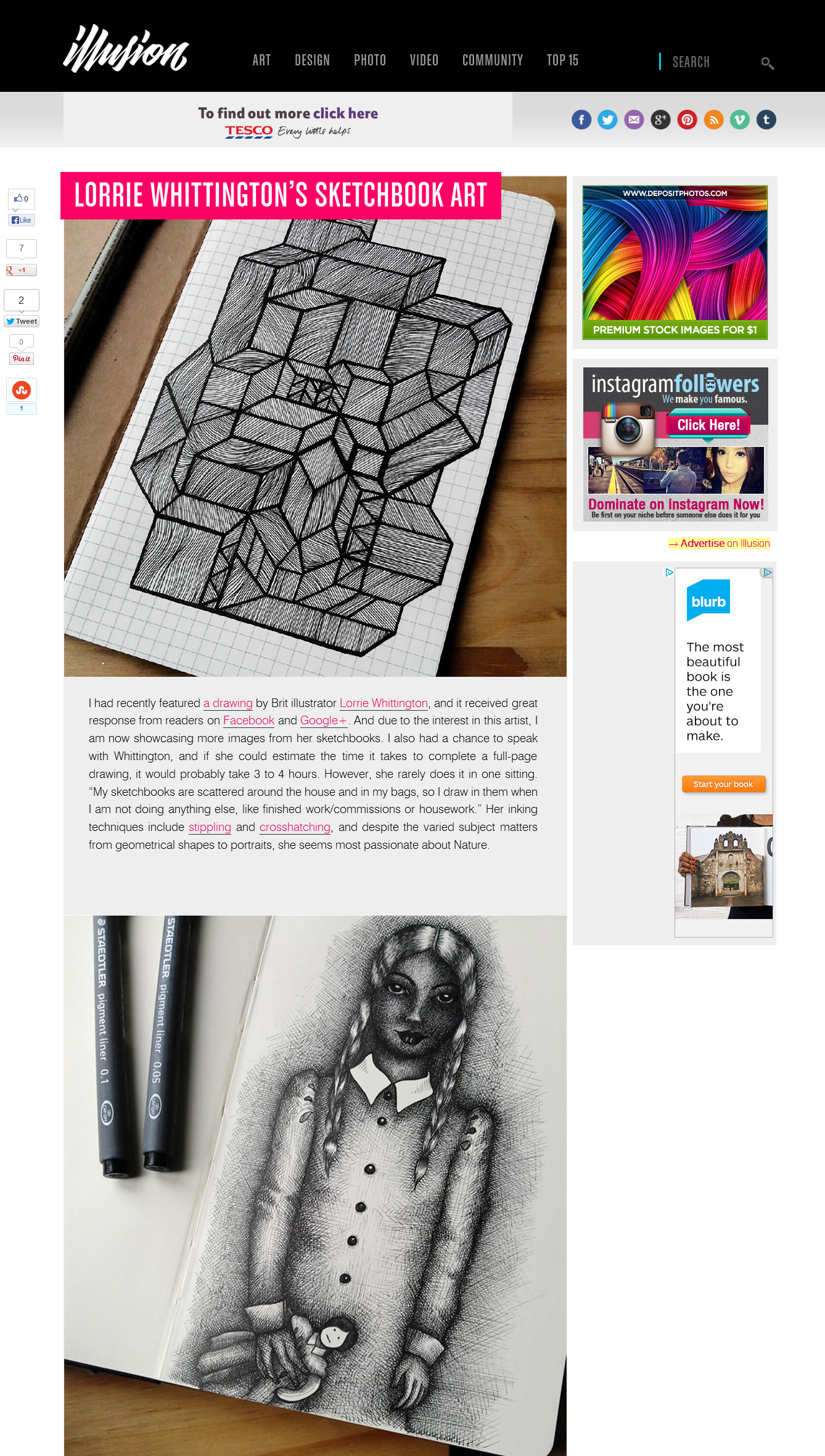 Sketchbook Feature on Illusion-Scene360