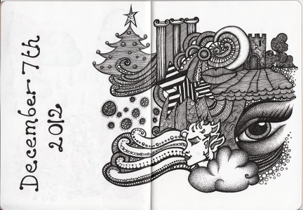 Sketchbook Project Pages 4-5