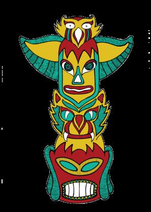 Totem - coloured