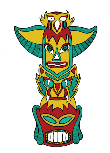 Totem - coloured