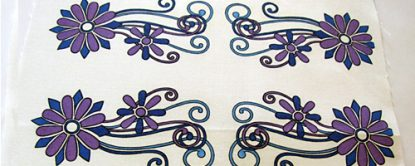 Trailing Flowers Fabric Swatch