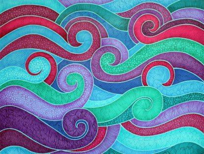 """Turbulence: Acrylic on 18x24"""" canvas"""