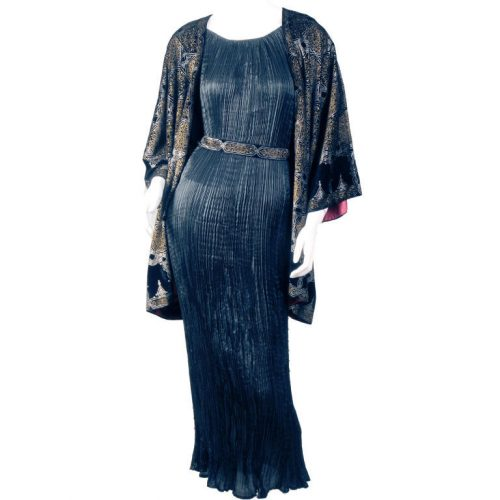 Velvet Jacket and Delphos Dress by Mariano Fortuny