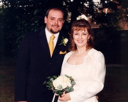 Luke and I marry on August 3rd 2002