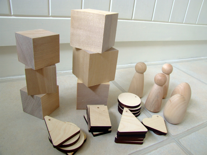 Wooden supplies to make lovely things