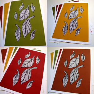 Autumn Leaves Series of A5 Prints