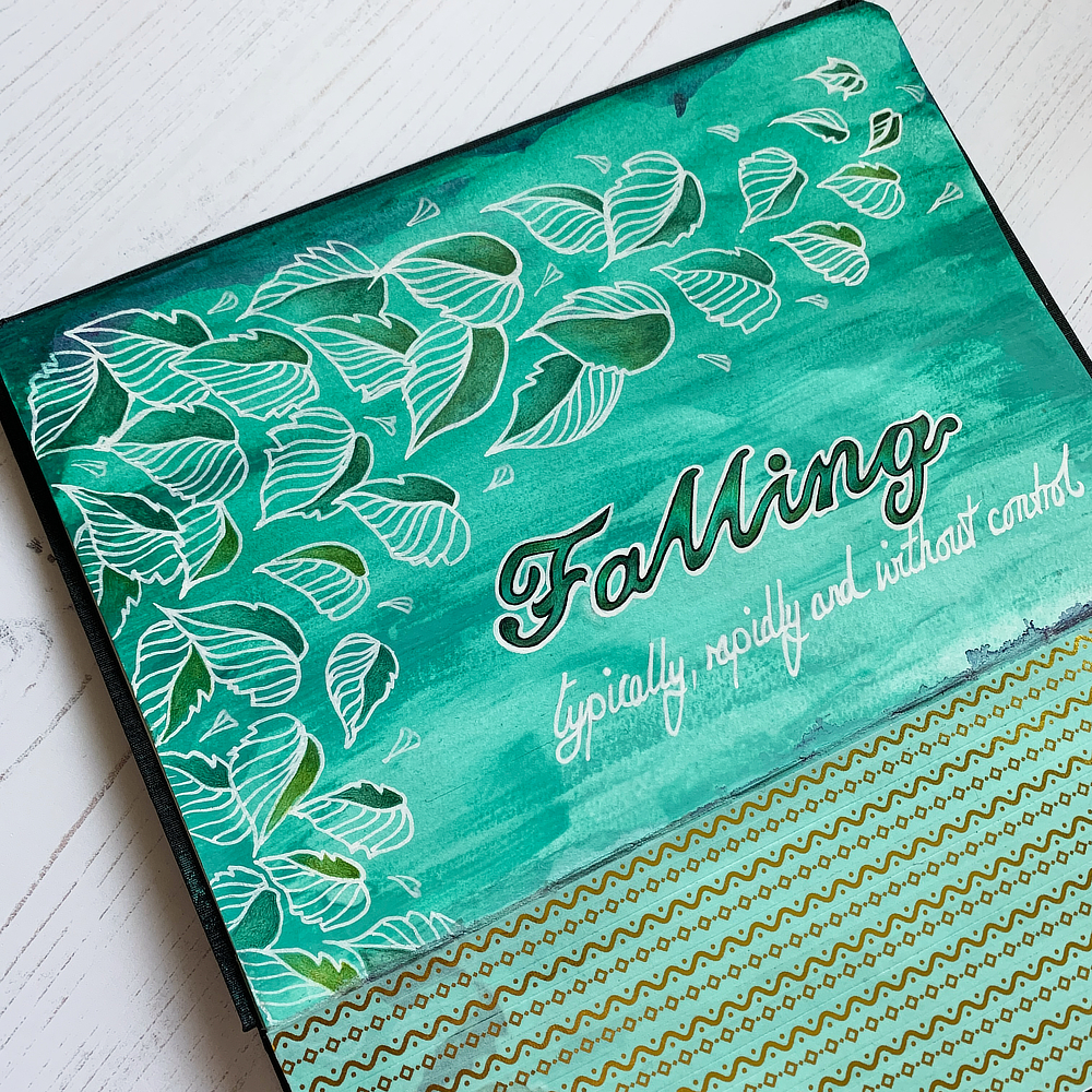 Mixed Media Art Journal: Falling