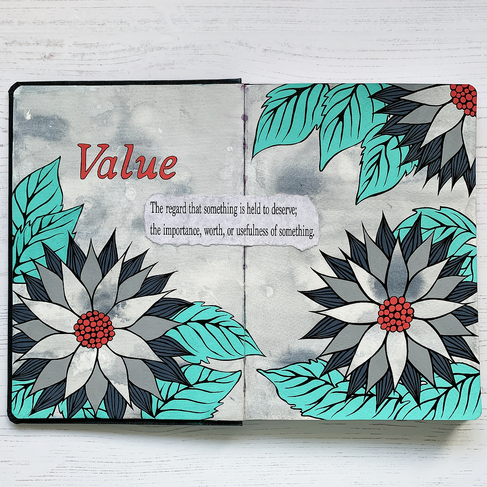 Mixed Media Art Journal: Value